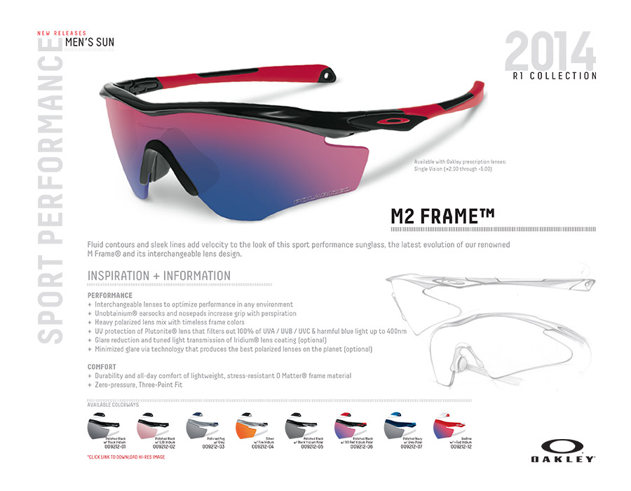 Oakley M2 Frame Options