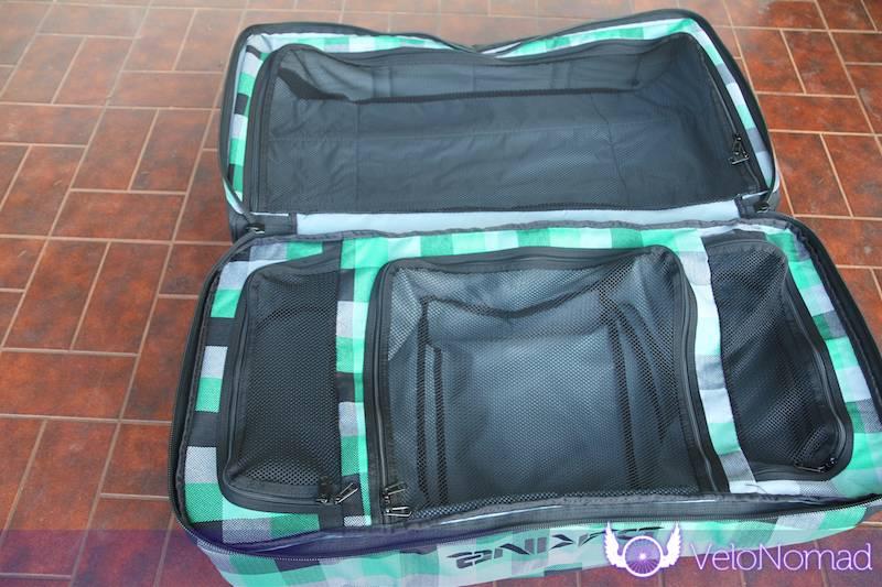 Dakine Split Roller Review:Interior of bag