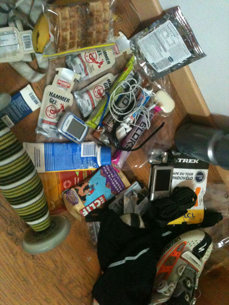 What I packed on Etape 2010 - too much