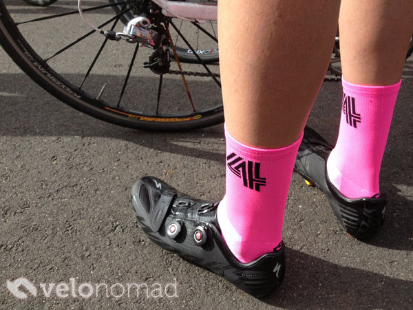 How tall should cycling socks be