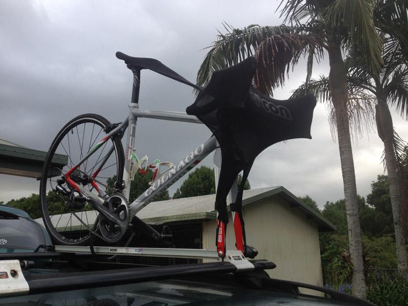 Scicon Bike Defender on bike on roof