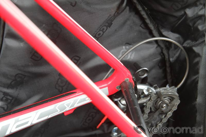 Scicon Aerocomfort 2 TSA bike bag review: rear derailleur protector