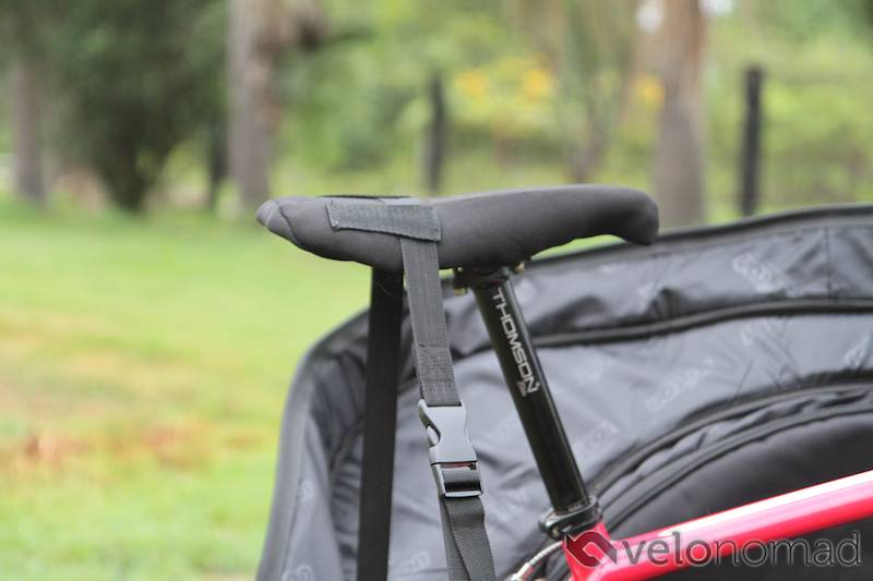 Scicon Aerocomfort 2 TSA bike bag review: seat strap