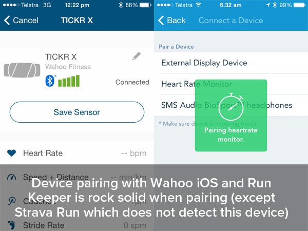 Wahoo Tickr X Review App pairing